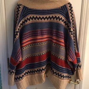 Glam Vintage Sweaters - Bohemian Sweater Poncho